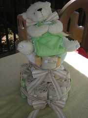 Cloth diaper cake front