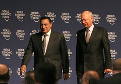 Hosni Mubarak, Klaus Schwab - World Economic F...