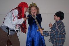 Elise(Pirate), Nicola (Princess) and James (Pirate)