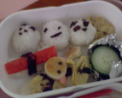 Close up of the not-so-shallow bento tier