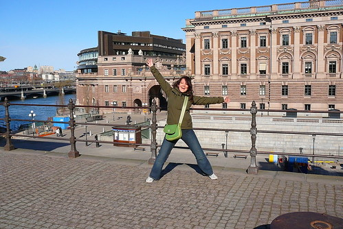 Me in Front of the Royal Palace, Stockholm
