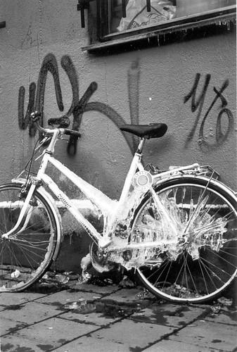 Frossen sykkel
