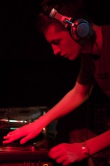 Skream, in the mix.