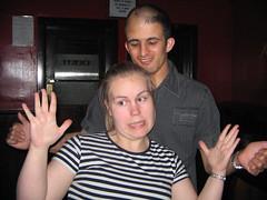 Jag och James (fråga ming inte vad vi pratade om här för det vet jag inte!)