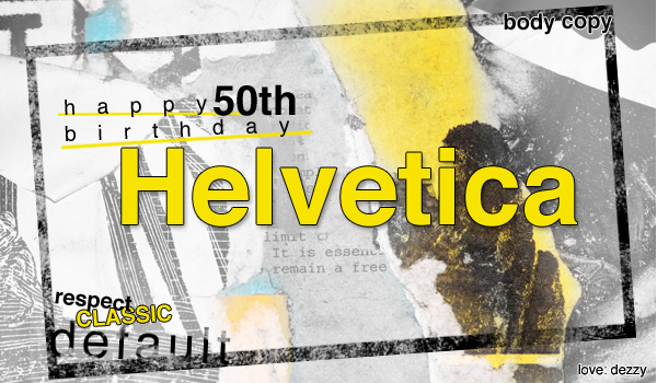 happy birthday helvetica