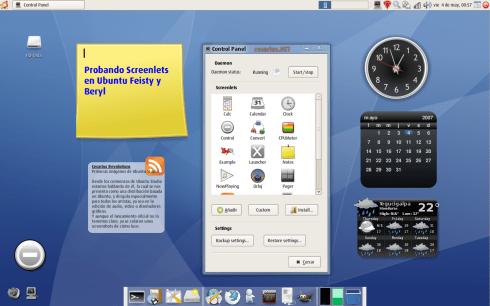 Screenlets en Ubuntu 7.04 + Beryl/Compiz