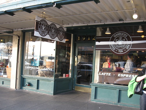 The Origional Starbucks in Seattle Washington (by Jim Moore)