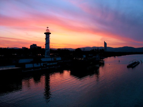Sunset at Donau