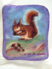 Needle felt wool painted picture for children and adult