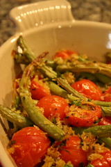 Roasted Green Bean and Tomato Salad with Lemon-Herb Breadcrumbs