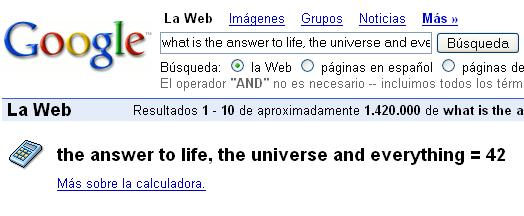 the answer to life, the universe and everything