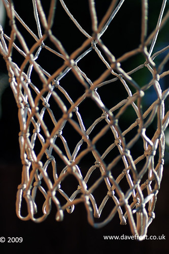 Basketball net abstract.