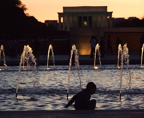 Day 128 - World War II Memorial at Dusk