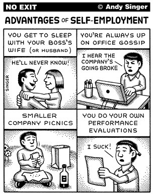 Andy Singer's No Exit: Self-Employment