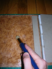 Gluing Back Cover Board