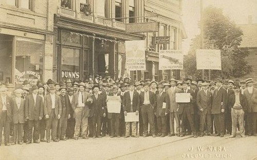 Copper Miners outside Dunn's Bar