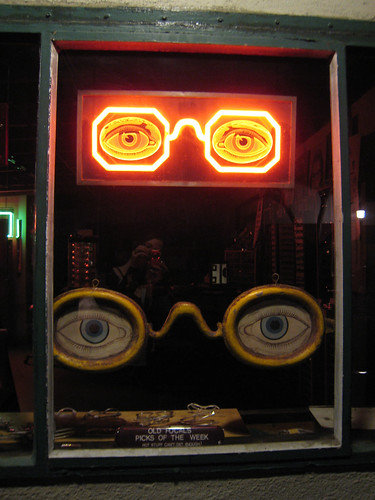 Neon glasses and non-neon glasses