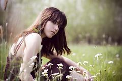 Girl in field (spring)