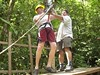 BM1 Heath Smith on the zipline