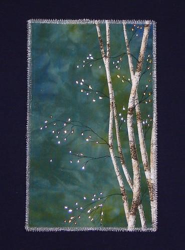 dk blue& grn birches