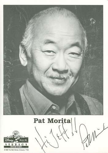 Pat Morita, Mr. Myagi signed headshot