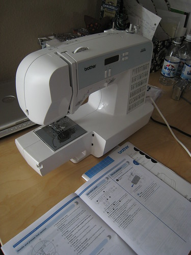 a brand new sewing machine