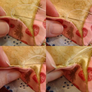 sewing down flaps
