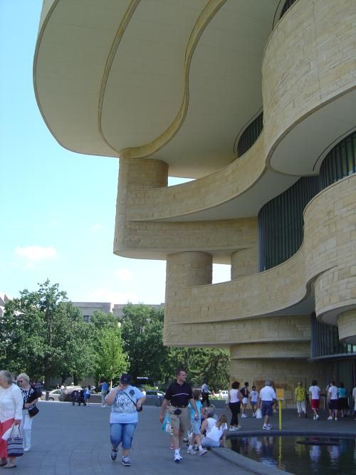 Flared facade, NMAI, Washington, DC