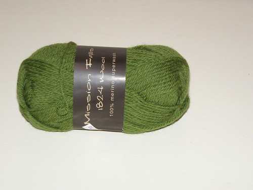 Green yarn for surprise blankie