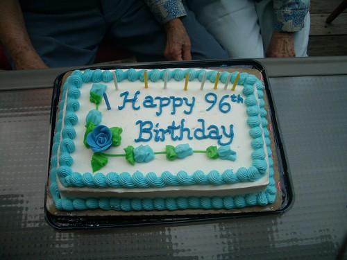 96th Birthday Cake