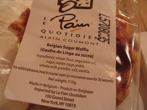 Sugar waffle label
