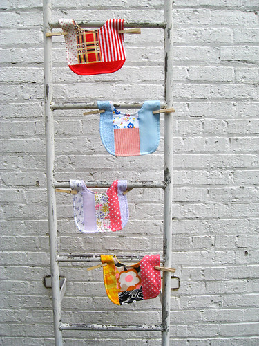 New vintage patchwork bibs.