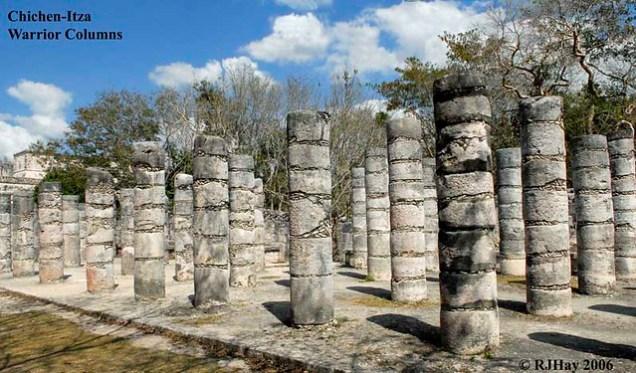 Chichen-Itza - Warrior Columns