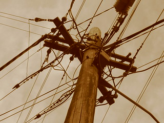 Electrical Wires Sepia