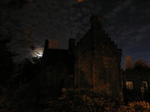 Gatehouse moonlit