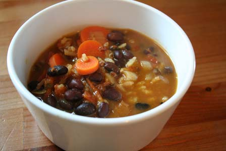 Black Bean and Wild Rice Soup