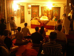 During Meditation, Tushita Meditation Center, Delhi