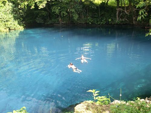 Swimming in Matevulu Blue Hole, Espiritu Santo