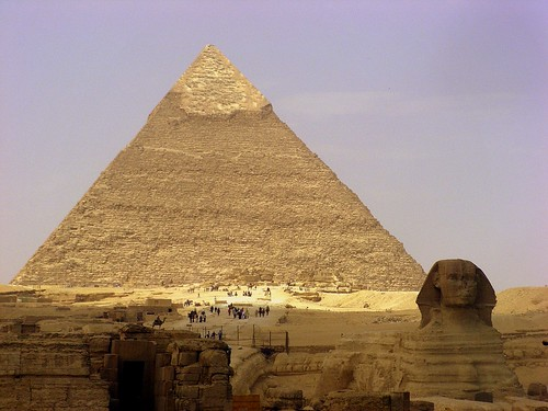 Esfinge y Piramide de Kefren