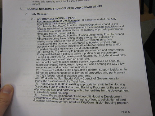 Affordable housing recommendations