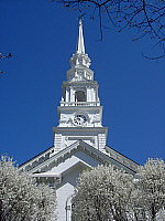 White spire with crabapples