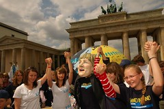 Global education campaign, Brandenburg Gate, Germany