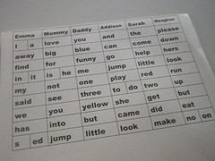 sight words printed out