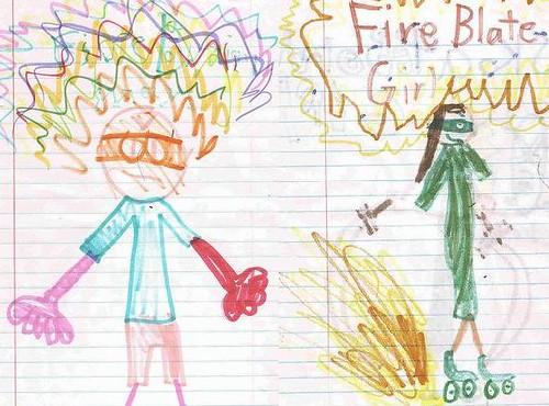 Fire Brain & Fire Blade Girl