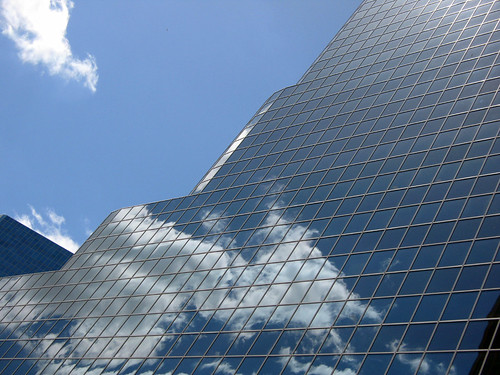 Reflecting the sky in Toronto