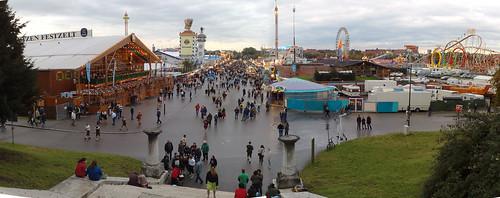 Munchen Oktoberfest on a Rainy Day