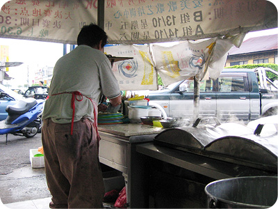 HK chee cheong fun stall