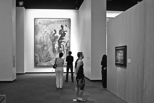 Admiring the Dali paintings (St. Petersburg, Florida)