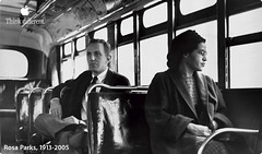 Rosa Parks defies segregation on Alabama bus