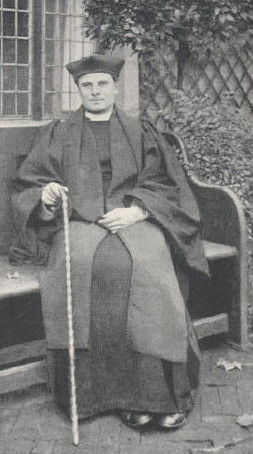 English Catholic street clericals: the 'Medieval Biretta' called a Catercap, the Gown, Sarum Cassock, Tippet (Scarf).